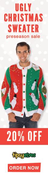 Shop fun Christmas Gifts at Tipsy Elves!