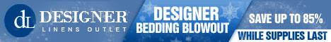 Save up to 85% on Designer Bedding!