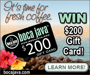 Boca Java Gift Card Giveaway