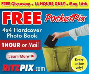 Free 4x4 Hardcover Photo Book from RitzPix.com!