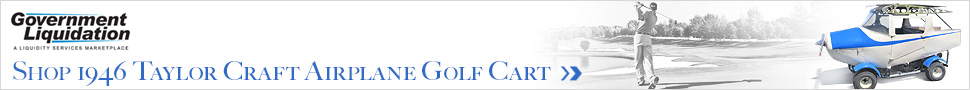 Taylor Craft Airplane Golf Cart from GovLiquidation.com