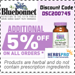 Bluebonnet Nutrition Specials - Additional 5% Off on all orders