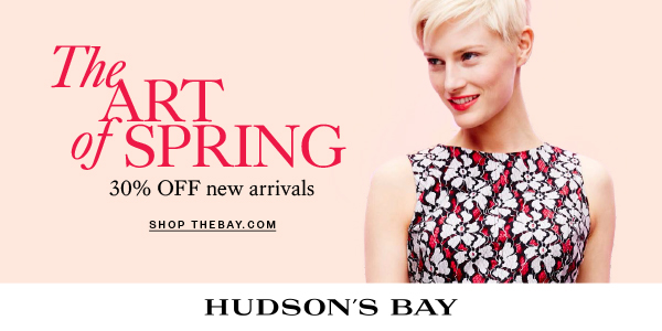 (3/19-4/10) Up to 30% off women's spring arrivals at TheBay.com