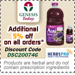 Genesis Today Specials - Additional 5% Off on all orders
