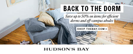 (8/1-9/15) Back to the Dorm Sale - Up to 50% off items for dorms and off-campus abodes at TheBay.com