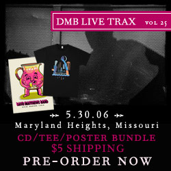 Live Trax 25 is available for pre-order and will be released on May 21, 2013.