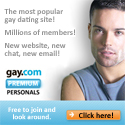 Get $5, $10 or $15 off GAY.COM Personals