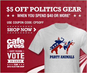 Save $5 on Political Gear at CafePress on orders $