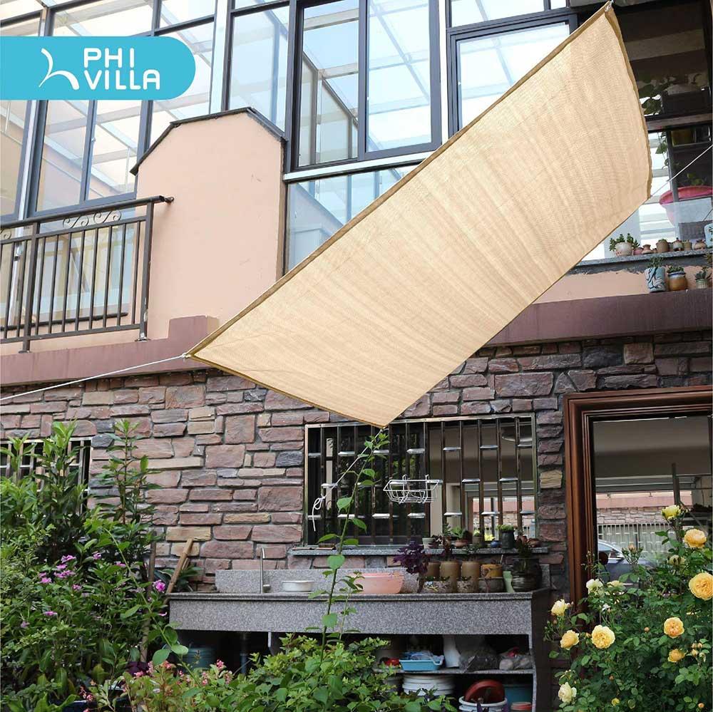 Sun Shade Sail Rectangle Patio Canopy Cover
