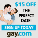 Free week trial on GAY.COM Personals