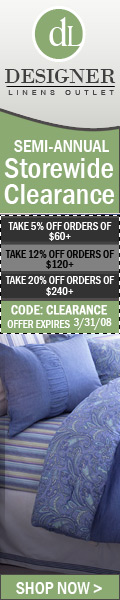 Designer Linens Outlet Coupons