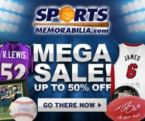 Shop the Mega Sale at SportsMemorabilia.com