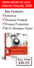Trend Micro PC-cillin Internet Security 2004 provides comprehensive and easy to use protection from viruses, hackers, and other Internet-based threats. Its new advanced features go far beyond standard antivirus and firewall protection, helping to safeguard your PC from new emerging threats like network viruses, spam email, inappropriate web content, and Spyware programs that can compromise your privacy. Buy PC-cillin Internet Security for $10 off today