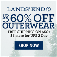 Lands' End Outerwear Up to 60% Off