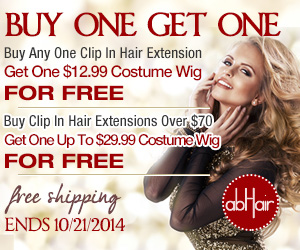 Buy hair extensions, get wigs for free. Plus free shipping.