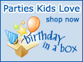 Parties Kids Love at BirthdayinaBox.com
