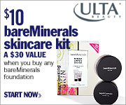 Get the bareMinerals skincare kit for only $10 ($3