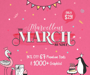 SALE!! 96% OFF Get The Marvellous March Bundle