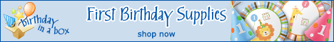 First Birthday Supplies at BirthdayinaBox.com