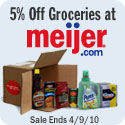 valid thru 4/9 - Special Offer: 5% Off ALL GROCERY