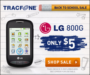 Back to School Sale! Only $5 for the LG 800G from TracFone