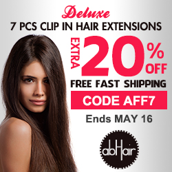 7 PCS clip in hair extensions 20% off +FS, code AFF7.