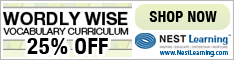 Wordly Wise Homeschool Curriculum now 25% off at NestLearning.com