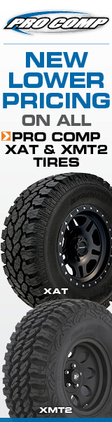 New Lower Pricing on all Pro Comp XAT and XMT2 tires