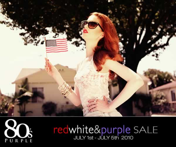 Red White & Purple Sale