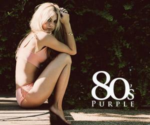80's Purple Womens Bikinis