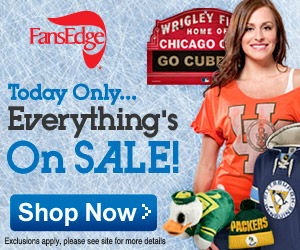 Cyber Monday Only at FansEdge.com! Sitewide Sale!