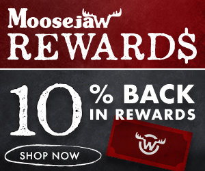10% Back in Reward Points at Moosejaw