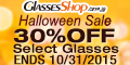 Save 30% off cat eye eyeglasses & sunglasses at GlassesShop.com! Code: TREAT30 ends 10/31
