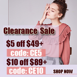 Clearance Sale - Save $5 Off $49+,$10 Off 89+ Shop in Choies.com!