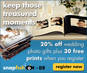 30 Free Prints + 20% off wedding photo gifts