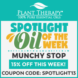 EXCLUSIVE! Get 15% Off Munchy Stop Oils at Plant Therapy! Use Code SPOTLIGHT13 and Save!
