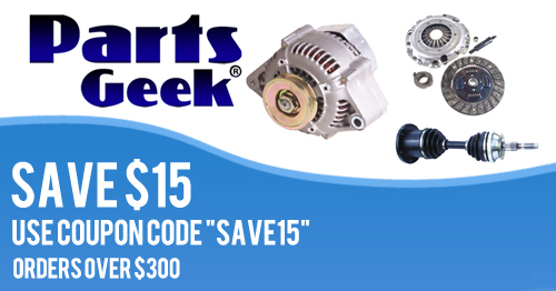 Save $15 When You Spend $300 or More at PartsGeek!