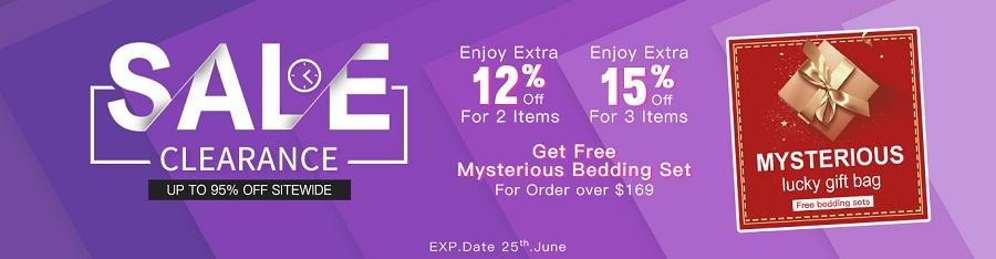Beddinginn Clearance Sale! Extra Get Free Mysterious Bedding Set for Order over $169 (13979845)