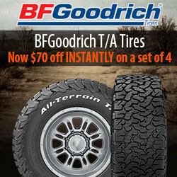 $70 off INSTANTLY on BFG All-Terrain T/A KO2's