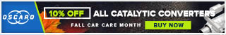 10% Off All Catalytic Converters - Fall Car Care Month Sale!