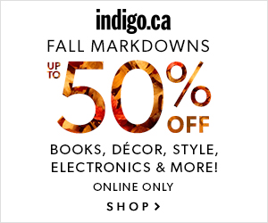 Fall Markdowns at Indigo.ca