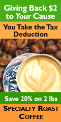 Specialty Roast Coffee donates $2/LB to your cause - tower