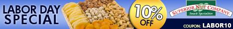 Labor Day Sale on Premium Nuts & Snacks