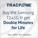 $5 OFF - Buy the Samsung T245G for $14.99 & get Double Minutes for Life