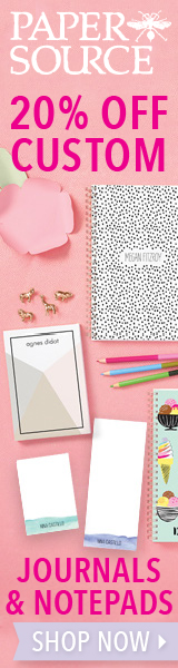 20% off Custom Journals and Notepads at Paper Source