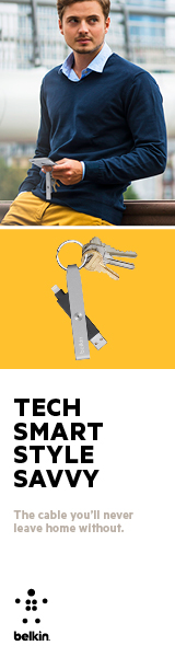 The cable you will never leave home without. Belkin Lightning to USB Keychain.