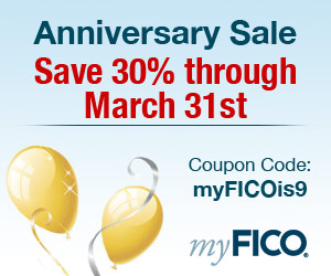 Save 30% on all myFICO credit products