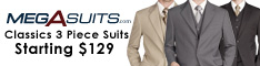 WOW - Men's 3 Piece Suits - Starting $129