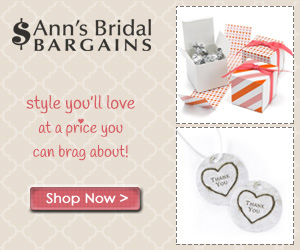 Stylish Wedding Favors from Ann's Bridal Bargains