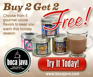 Buy 2 Bags of Cocoa Get 2 FREE